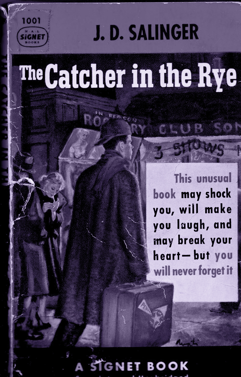 Cover to the first paperback edition of of J.D. Salinger's The Catcher in the Rye. New York. The New American Library. 1953.