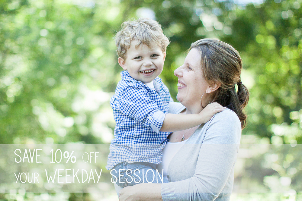 Fall weekday sale for family photo sessions in Westchester County & NYC.