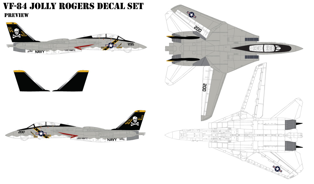 VF-84 Jolly Rogers Decals