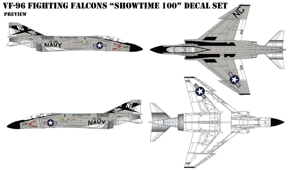 VF-96 Fighting Falcons Decals