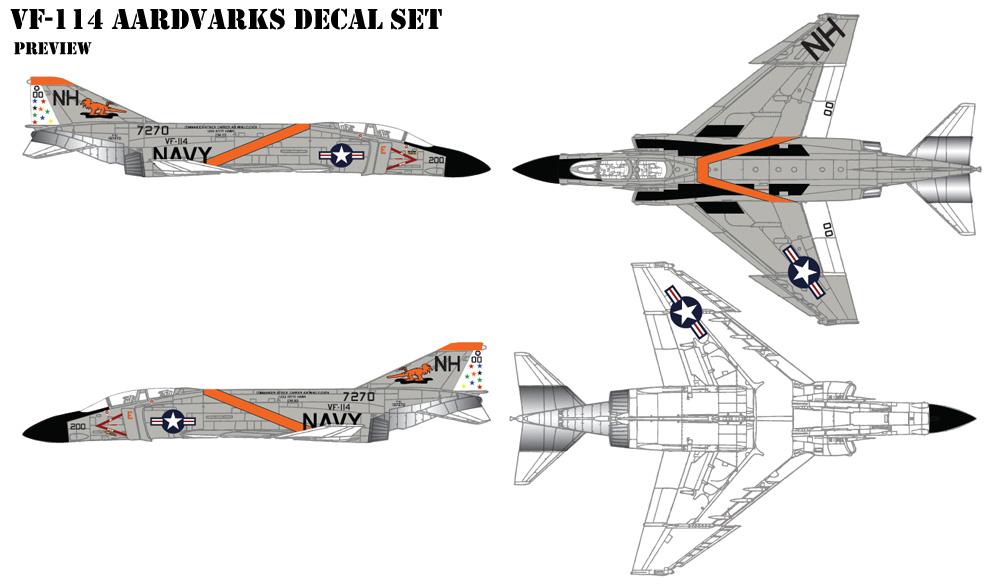 VF-114 Aardvarks Decals
