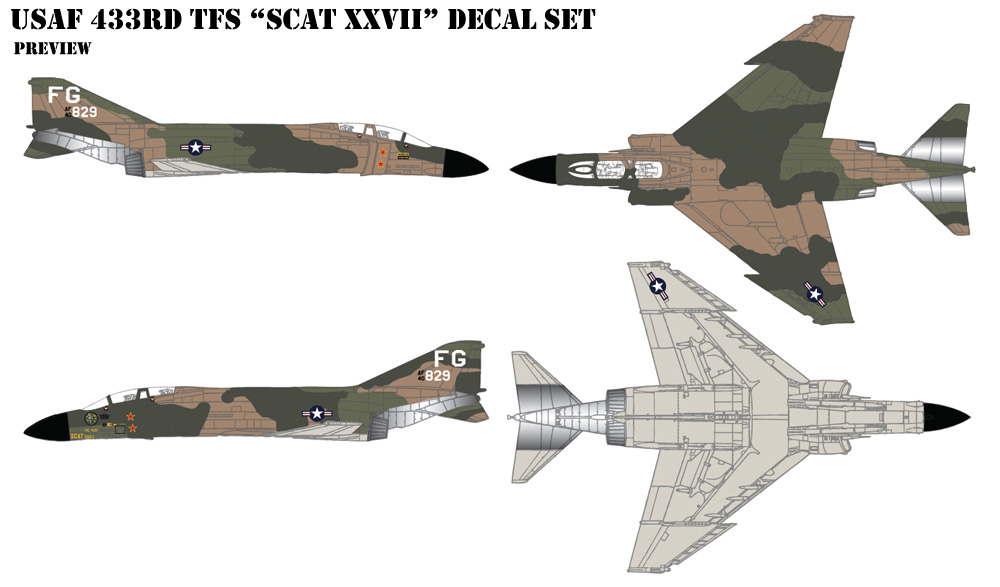USAF 433rd TFS Decals