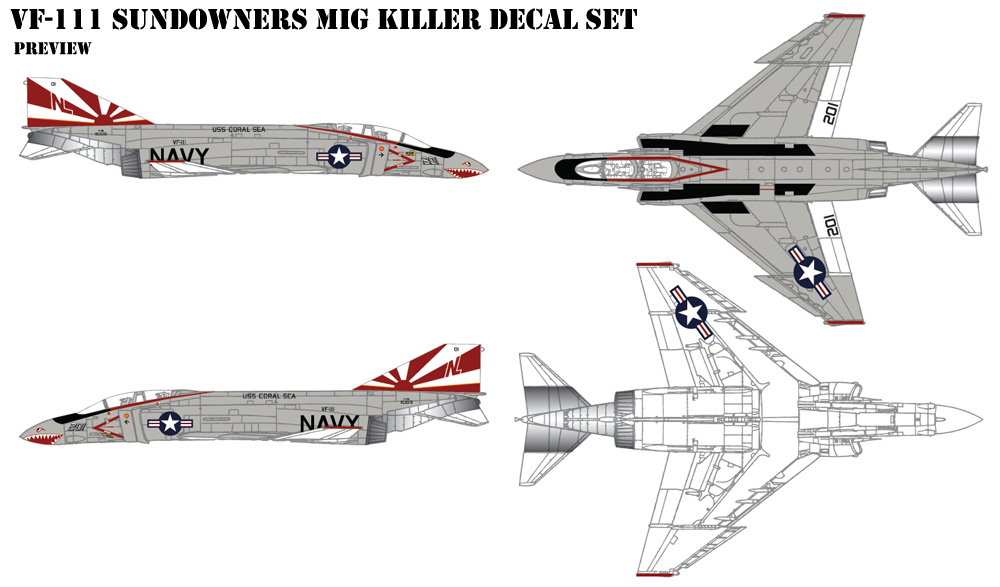 VF-111 Sundowners Decals