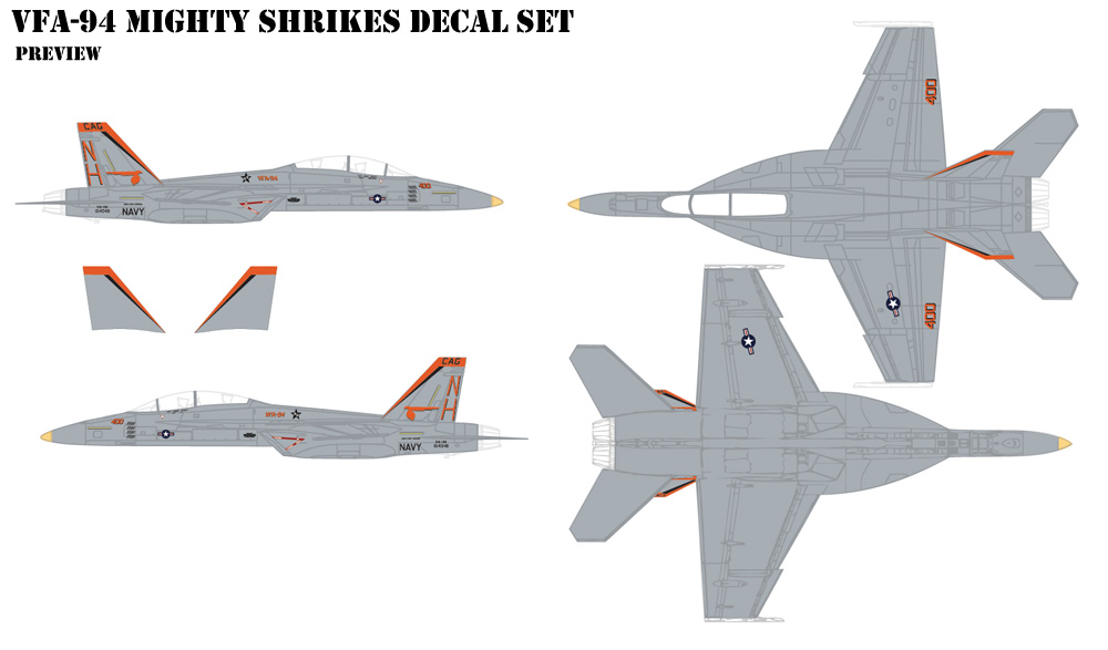 FVA-94 Mighty Shrikes Decals
