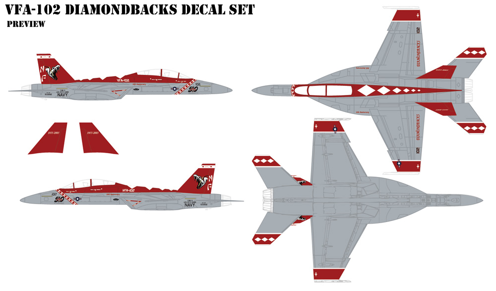 VFA-102 Diamondbacks Decals