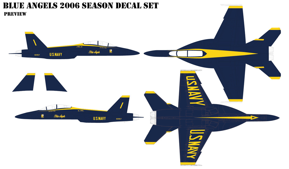 Blue Angles 2006 Decals