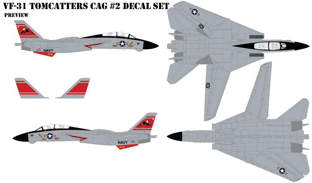 VF-31 Tomcatters CAG #2 Decals