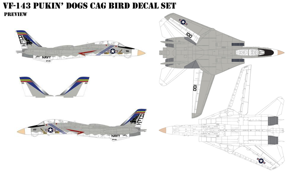 VF-143 Pukin Dogs CAG Decals