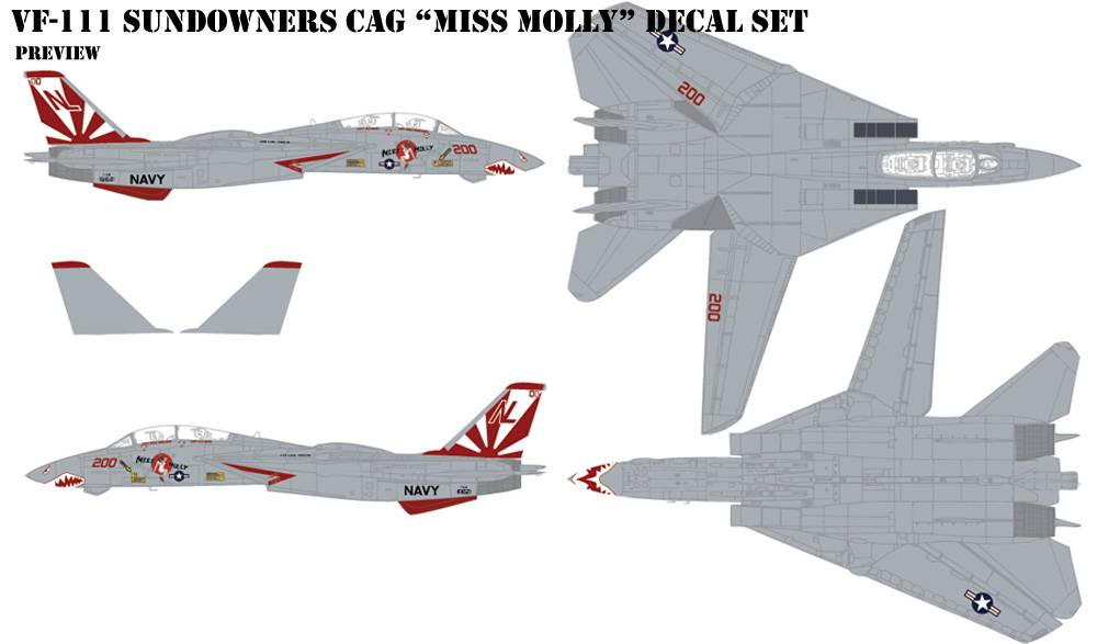 "VF-111 Sundowner ""Miss Molly"" Decal"
