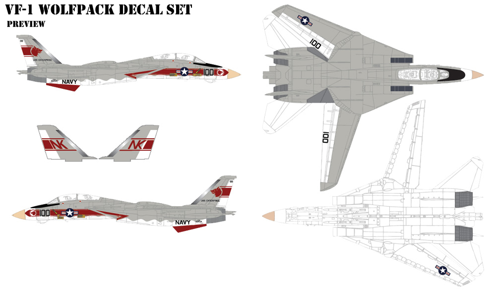 FV-1 Wolfpack Decals