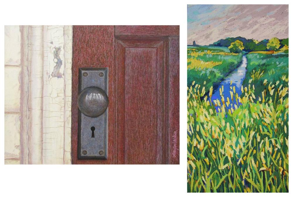 """Red Door"" by Bethany Ann Davidson and ""Unassuming"" by Elizabeth Van Den Broeck"