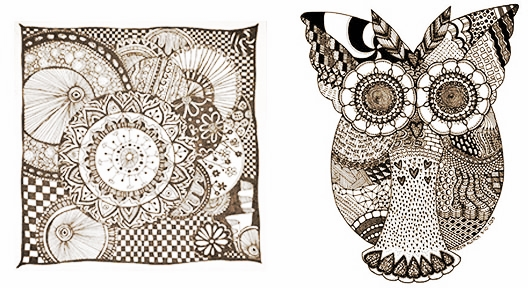 Just a couple of Zentangle examples we've found and loved!