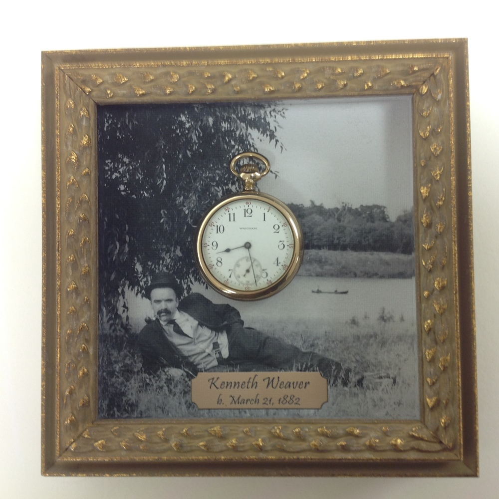 pocket watch framing