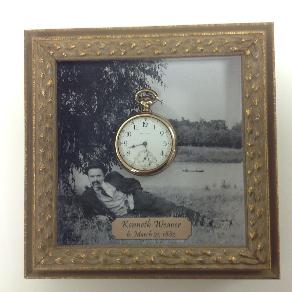 pocket watch framing