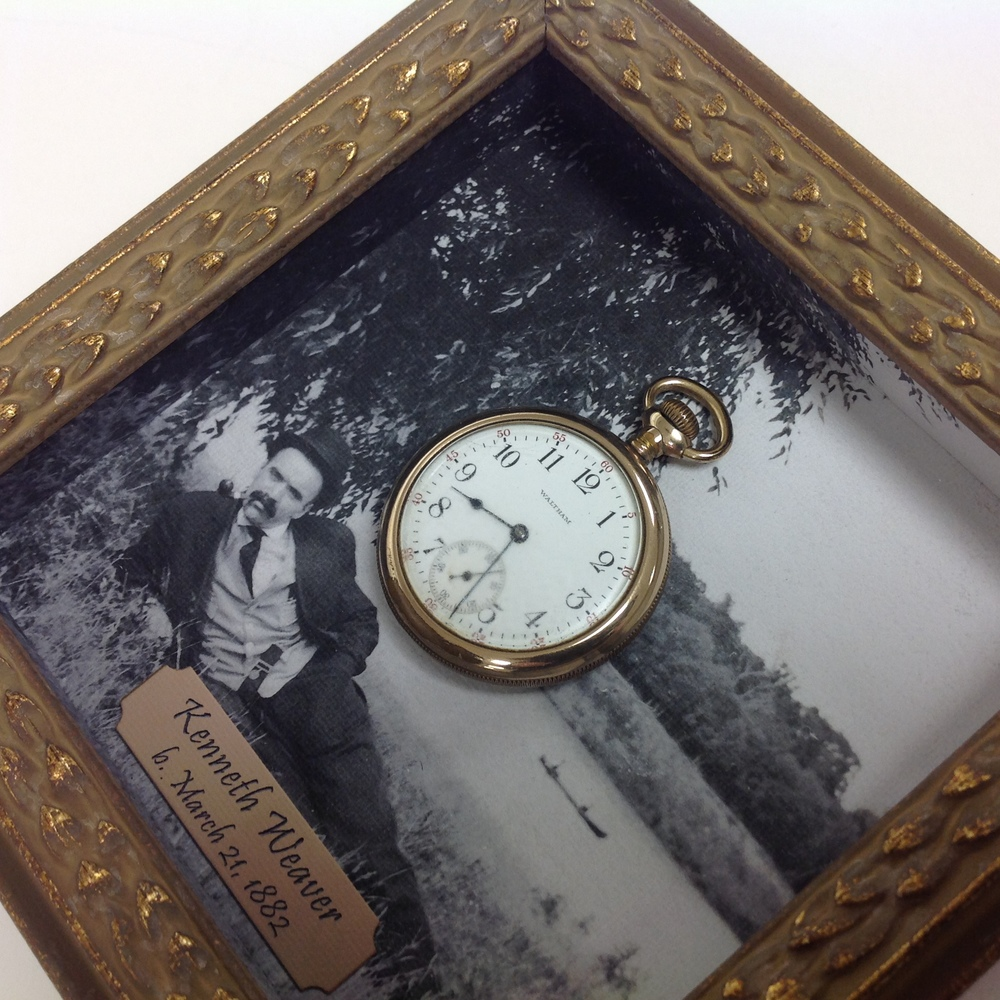 pocket watch shadowbox