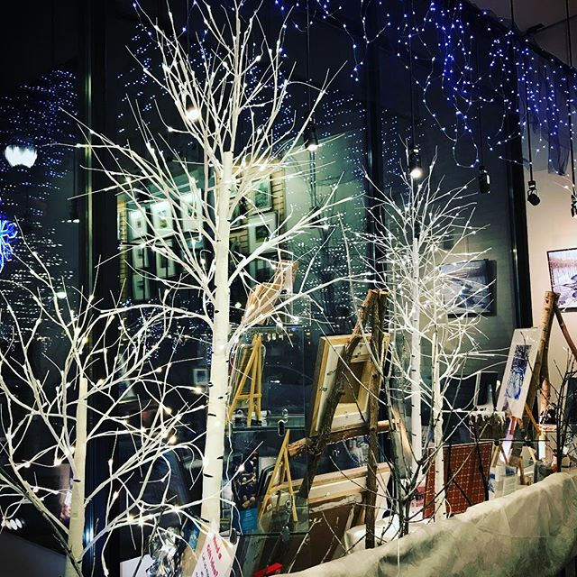 The world is sparkling inside and out and we are blessed to have such a great and beautiful community. #shoplocal and #loveyourcommunity this Holiday. . . . #art #artgallery #goderich #christmas #christmaslights #windowdisplay #shopping #bling #pretty #happy #ourtown #myplace #itswhatido #huroncounty @goderichbia