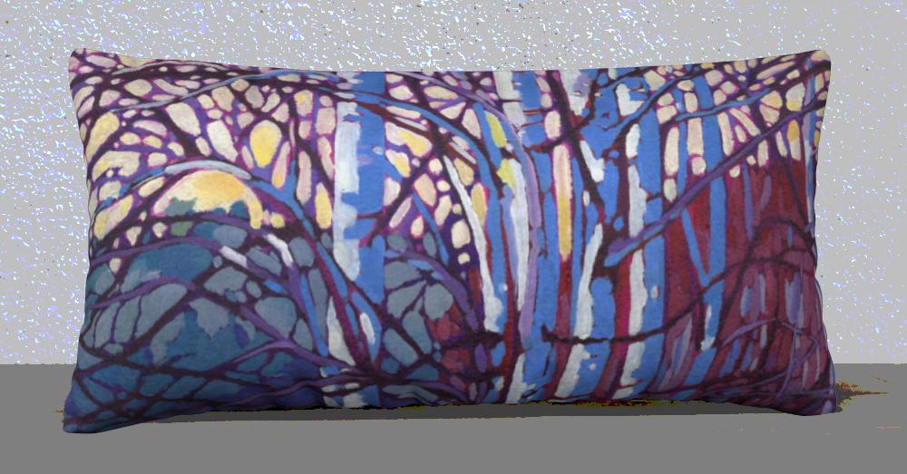 Brilliant Birch 12x24 Fine Art Pillow $45