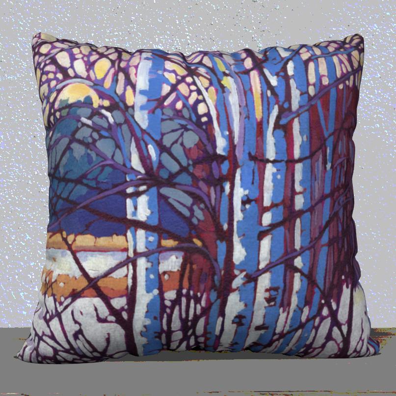 Brilliant Birch 18x18 Art Pillow $45