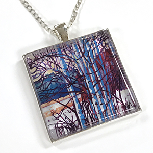 Brilliant Birch Glass Necklace $22.95 or $25 boxed with matching gift card.