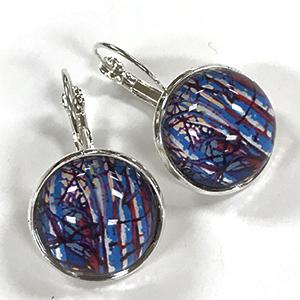 Brilliant Birch Glass Earrings $15