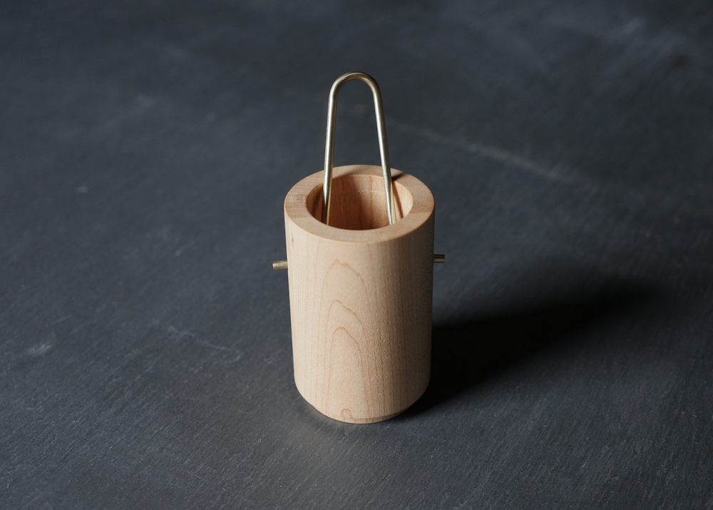 Vessel / Maple + Brass