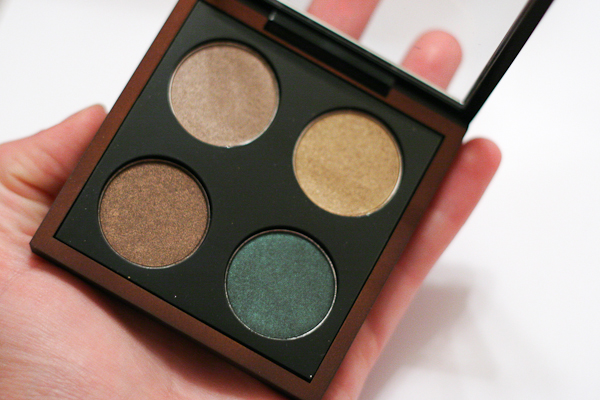 MAC Bare My Soul eyeshadow quad. Don't you love the look of a fresh pan of eyeshadow?