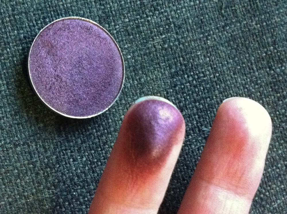 Eyeshadow in Brazenly from MAC's Nudes and Metallics Collection. See how intense the colour is?