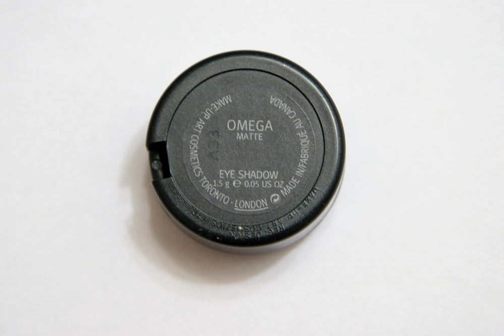 MAC eyeshadow in Omega has a smooth, matte finish.