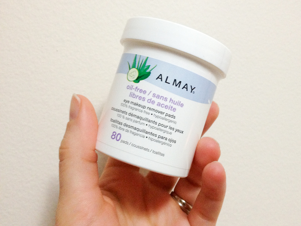 Almay Oil-Free Eye Makeup Remover Pads.