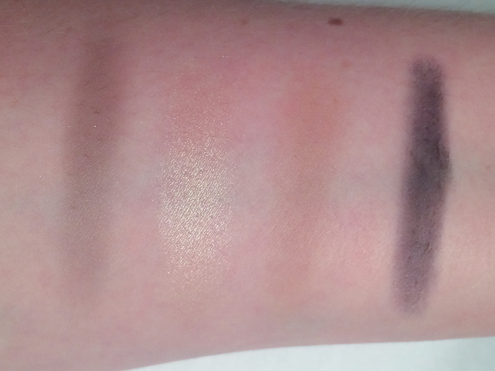 Slate, Twilight Pink, Naked, and Rich Navy from Bobbi Brown's Navy and Nude Palette.