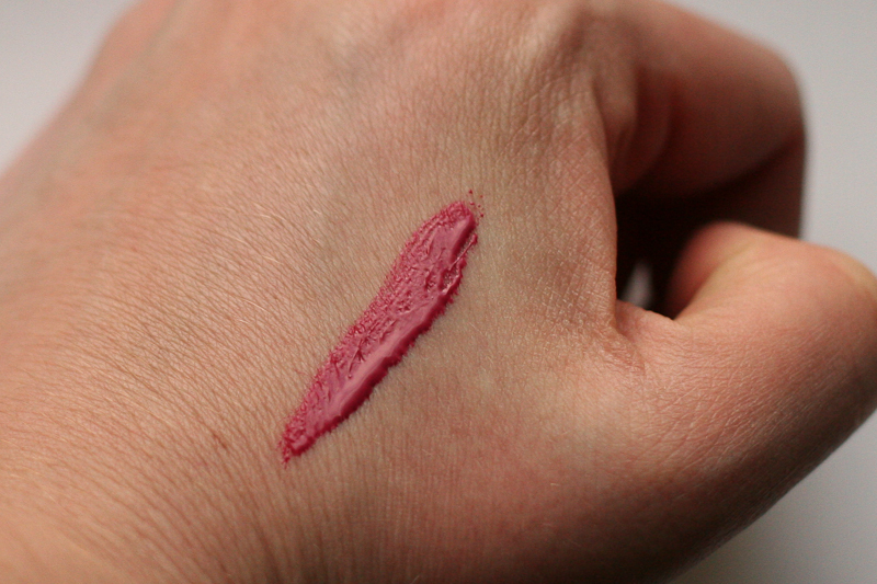 Illamasqua Intense Lipgloss swatched on the back of my hand.