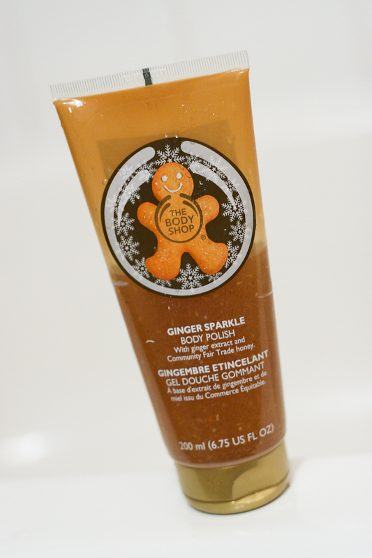 Ginger Sparkle Body Polish by The Body Shop.