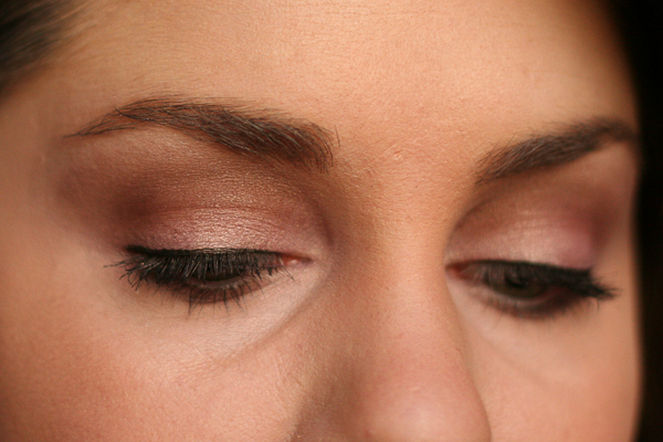 A soft, purpley look with the 2013 Laura Mercier Artist's Palette.