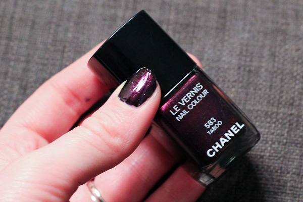 Chanel Le Vernis Nail Colour in Taboo.