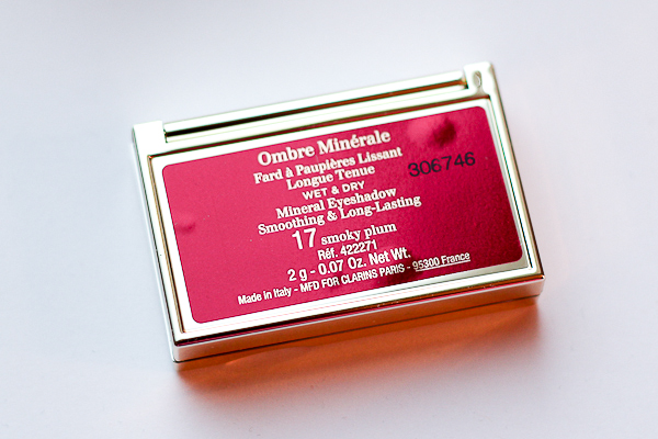 Clarins Smoky Plum Ombre Minéral Mono Eyeshadow comes with 2 grams of product.