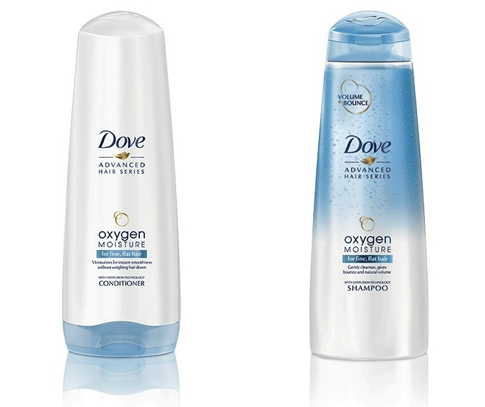 Dove Oxygen Moisture Shampoo and Conditioner