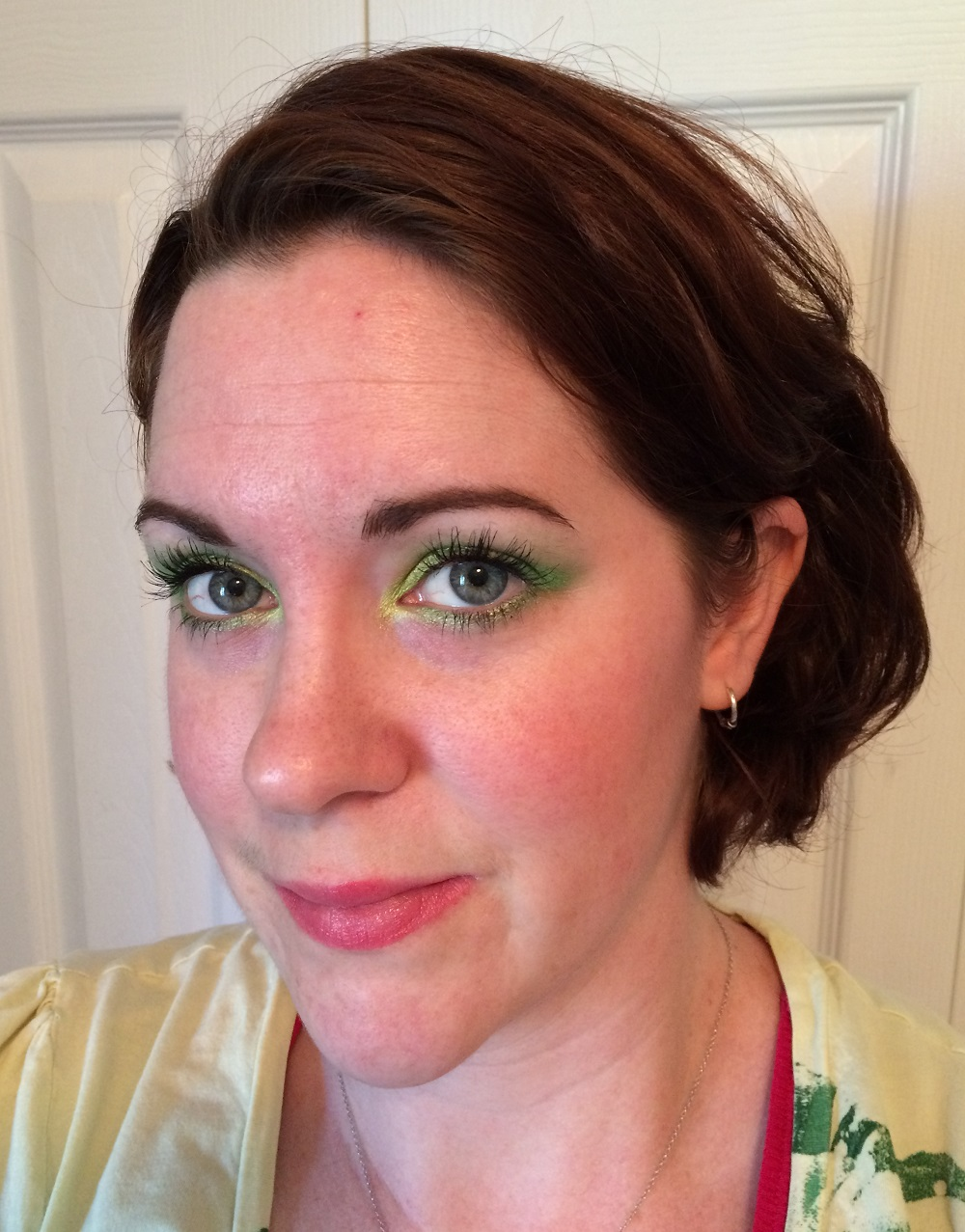 A neon face of the day courtesy of Sarah from Workaday Ramblings.