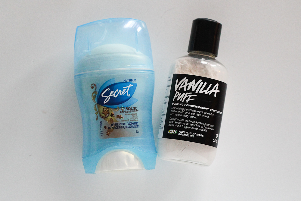 Antiperspirant and LUSH Dusting Powder are both workable solutions to chafing.