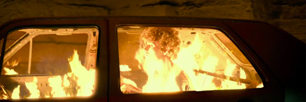 Catacombs on fire! And then some. A scene from Jock Erick Dowdle's  As Above, So Below  {Photo: UNIVERSAL}