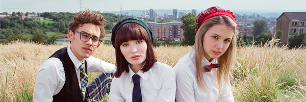 From left to right: Olly Alexander as James, Emily Browning as Eve and Hannah Murray as Cassie in Stuart Murdoch's  God Help the Girl   {Photo: AMPLIFY}