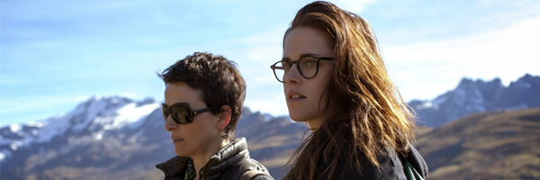 Juliette Binoche and Kristen Stewart in a scene from Oliver Assayas'  Clouds of Sils Maria  {Photo: IFC FILMS}