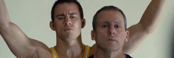 Channing Tatum and Steve Carell in a scene from Bennett Miller's  Foxcatcher  {Photo: SONY PICTURES CLASSICS}