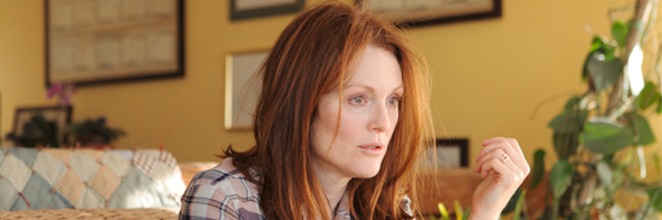Julianne Moore, pondering where it all went wrong, in a scene from Richard Glatzer and Wash Westmoreland's Still Alice {Photo: SONY PICTURES CLASSICS}