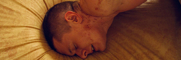 Jack O'Connell in a scene from David Mackenzie's  Starred Up  {Photo: TRIBECA FILMS}
