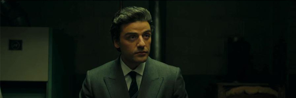 Oscar Isaac, staring you down, in a scene from J.C. Chandor's  A Most Violent Year  {Photo: A24}