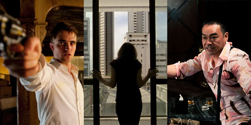(From left to right) David Cronenberg's Cosmopolis, Kleber Mendonça Filho's Neighboring Sounds, and Johnnie To's Life Without Principle.