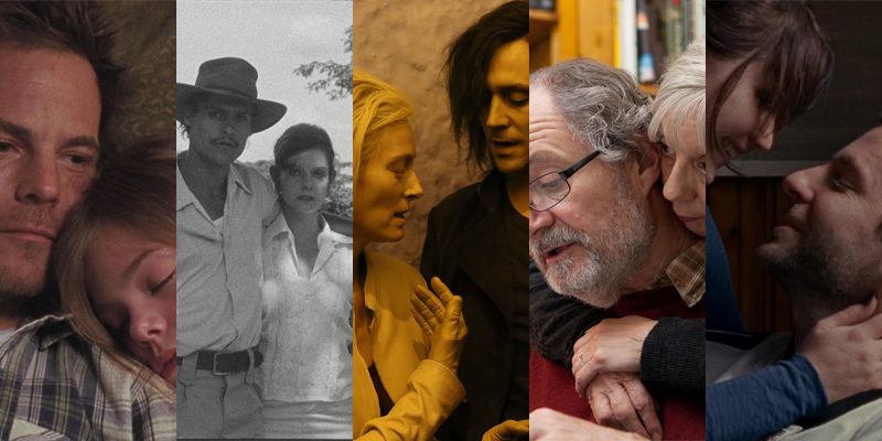 (From left to right) Sofia Coppola's Somewhere, Miguel Gomes' Tabu, Jim Jarmusch's Only Lovers Left Alive, Mike Leigh's Another Year, and David O. Russell's Silver Linings Playbook.