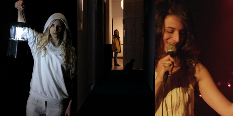 (From left to right) Zal Batmanglij's  The Sound of My Voice , Ramon Zurcher's  The Strange Little Cat , and Gillian Robespierre's  Obvious Child .