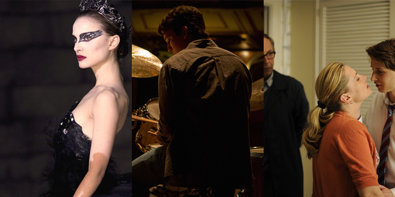 (From left to right) Darren Aronofsky's Black Swan, Damian Chazelle's Whiplash, and Fracois Ozon's In the House.