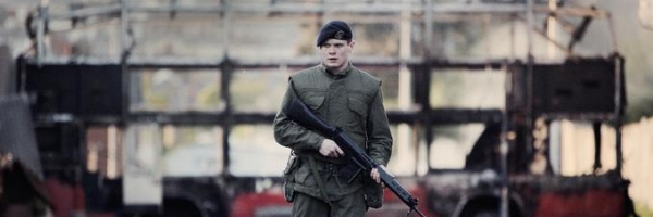 Jack O'Connell in a scene from Yann Demange's  '71  {Photo: ROADSIDE ATTRACTIONS}